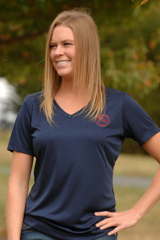 TM Ladies V-Neck Dri-Fit Short Sleeve