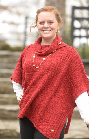 Crimson Taylor Made Poncho