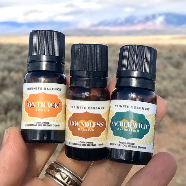 CREATIVE JOY! BOUNDLESS, SACRED WILD & ON TRACK ESSENTIAL OILS SETS