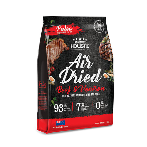 Absolute Holistic Air Dried Dog Food Beef & Venison - 1kg