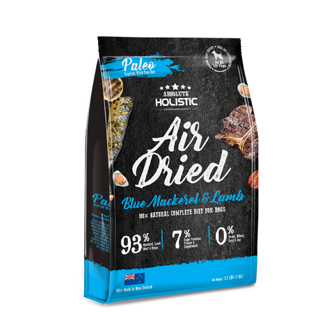 Absolute Holistic Air Dried Dog Food Blue Mackerel & Lamb - 1kg