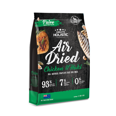 Absolute Holistic Air Dried Dog Food Chicken & Hoki - 1kg