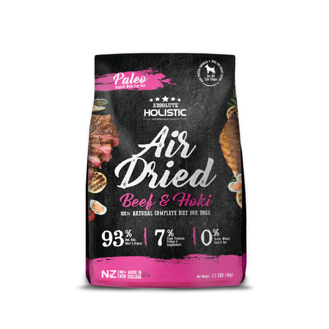 Absolute Holistic Air Dried Dog Food Beef & Hoki 1kg Bag