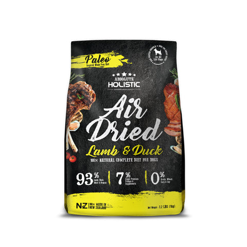 Absolute Holistic Air Dried Dog Food Lamb & Duck 1kg Bag