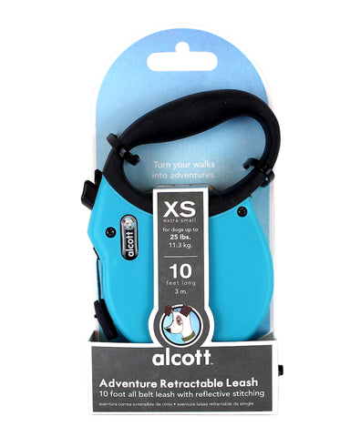 Alcott Adventure Retractable Leash Blue