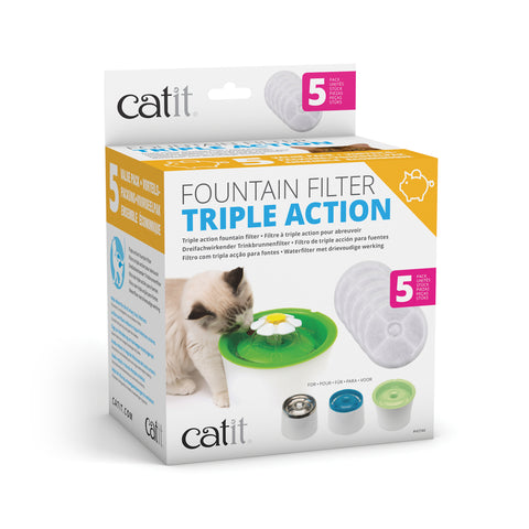 Catit 2.0 Senses Flower Water Softening Cartridge 5 pack