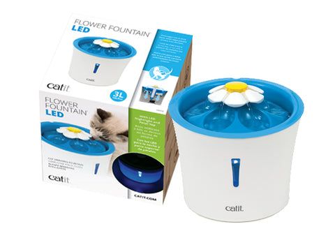 Catit 2.0 Senses Flower Water Fountain 3 Litre with LED Light Indicator