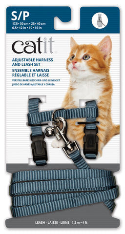 Catit Nylon Cat/Kitten Adjustable Harness and Lead Small Blue