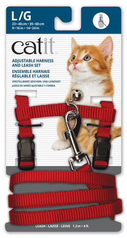 Catit Nylon Cat Adjustable Harness and Lead Large