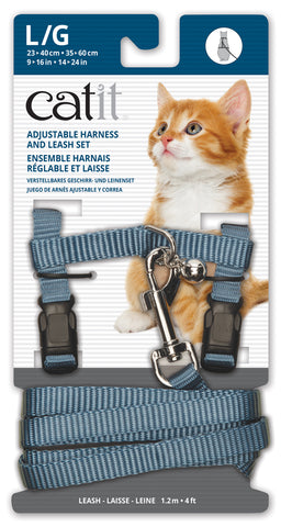 Catit Nylon Cat Adjustable Harness and Lead Large Blue
