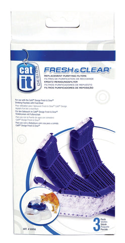 Catit Cat Drinking Feeding Station Carbon Filter Cartridges 3 pack