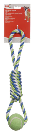 Dogit Tennis Ball Rope Toy spiral