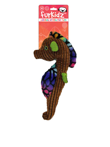 FurKidz Carnival Seahorse with Action Tail - 33cm