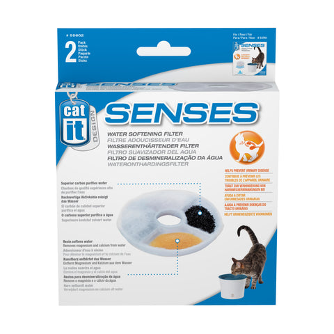 Catit Cat Senses Drinking Fountain Water Softening Filter (2 pack)