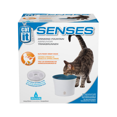 Catit Cat Senses Drinking Fountain 3 Litre with Water Softening Filter