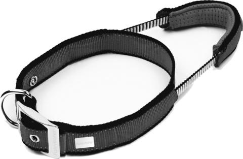 Patento Pet - Basic Collar with Integrated Leash - Medium (40 - 50cm) Black