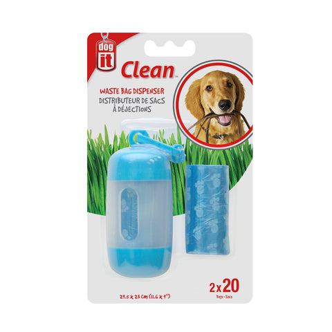 Dogit Waste Dispenser With Bags Blue
