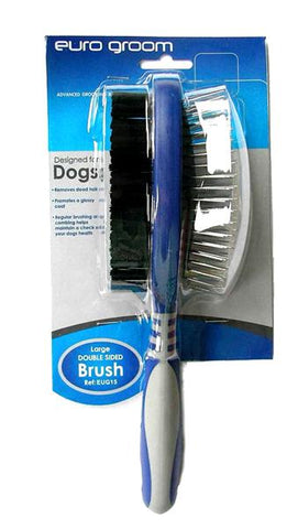 Euro Groom Dog Pin/Bristle Brush Large