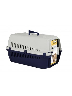 FurKidz Economy Animal Carrier Dark Blue / Beige 50 x 33 x 30cm