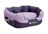 FurKidz Oval Bed Mauve / Brown
