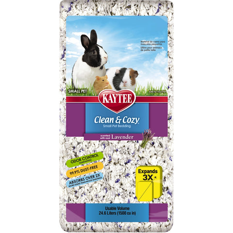 Kaytee Clean & Cozy Lavender Bedding 24.6 Litre Pack