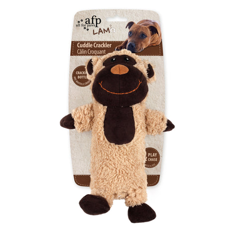 Cuddle Cracklers Monkey Dog Toy 28x19cm