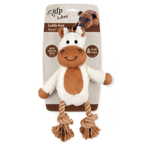 Cuddle Dental Horse with Rope Dog Toy 31x23cm