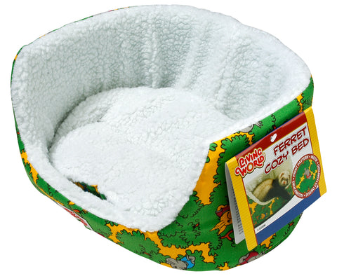 Living World Ferret Cozy Bed Green 30 x 25 x 14cm