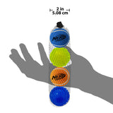 Nerf 4 Ball Pack 5 cm - 2 x Squeak Tennis Balls / 2 x TPR LED Balls