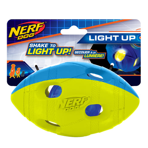 Nerf - LED Bash Football - Blue/Green 14 cm