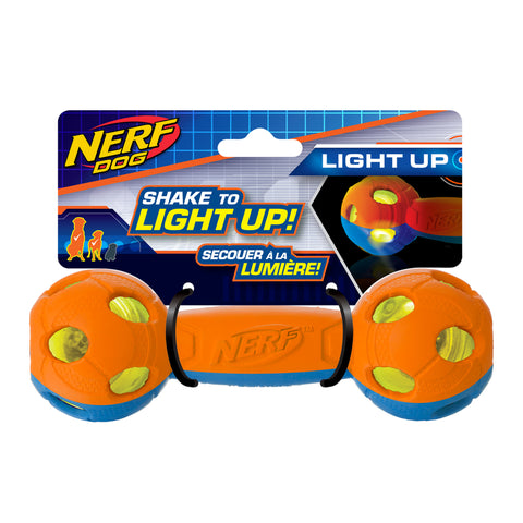 Nerf - Rubber Bash LED Barbell - Blue/Orange 10.5cm