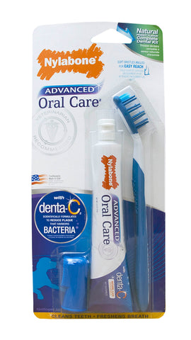 Nylabone Advanced Oral Care Natural Dental Kit for Dogs