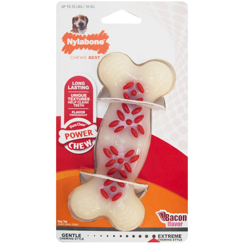 Nylabone Power Chew Action Ridges Bacon - Wolf