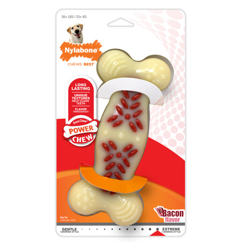 Nylabone Power Chew Action Ridges Bacon - Souper