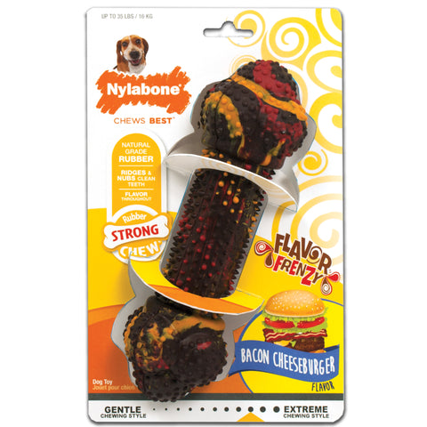 Nylabone Flavour Frenzy Rubber Bacon/Cheesburger Wolf