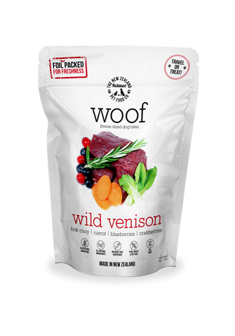 Woof Freeze Dried Dog Food Venison - 50gm