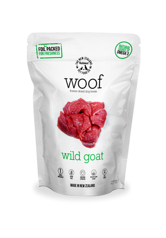 Woof Freeze Dried Dog Food Wild Goat 50gm