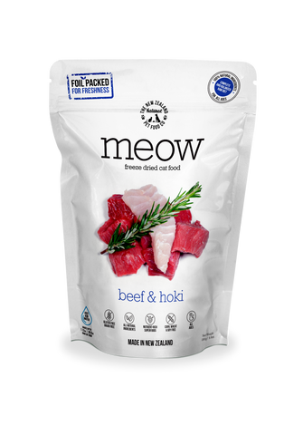 Meow Freeze Dried Cat Food Beef & Hoki - 280gm