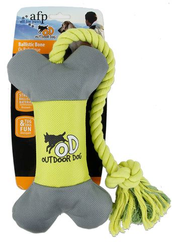 Outdoor Ballistic Bone with Rope Orange/Green - 64cm