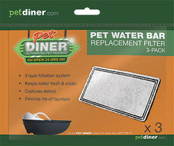 Pet Diner - Water Bar Replacement Filter 3 pack