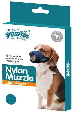 PaWise Nylon Dog Muzzle Adjustable