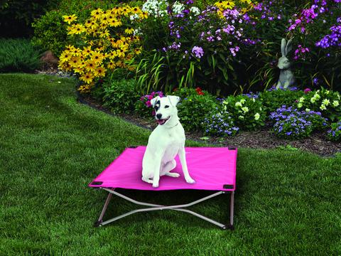 Carlson Portable Dog Bed Small (65 x 65cm) - Pink