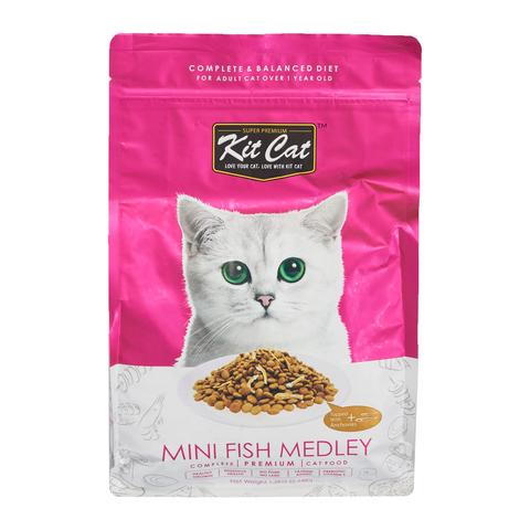 Kit Cat Premium Cat Food - Mini Fish Medley 1.2kg