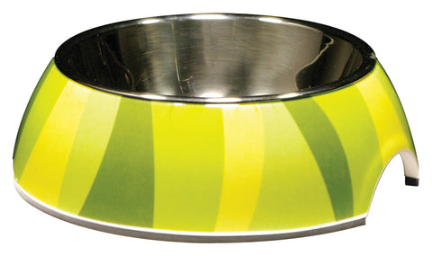 Catit 2 in 1 Style Durable Cat Bowl Green Jungle Stripes 160ml