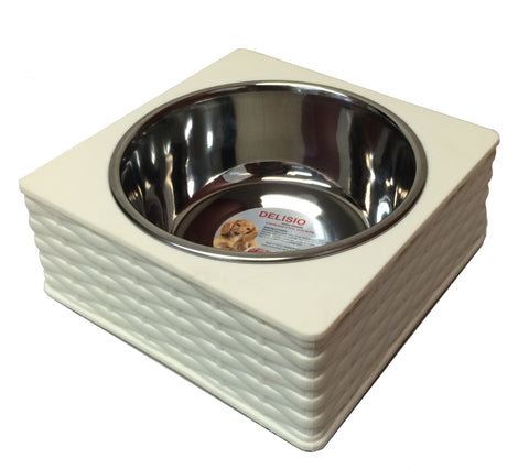 Stainless Steel Bamboo Enclosed Bowl - Single Beige