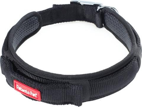 Patento Pet - Sports Collar with Integrated Leash Large (50 - 60cm) Black