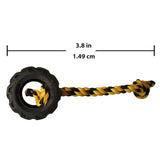TONKA Mighty Chomp Tyre w/Rope Black/Yellow 10cm