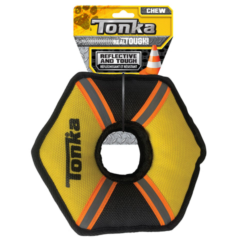 Tonka Tuff Poly Filled Hex Ring Yellow/Black 23cm