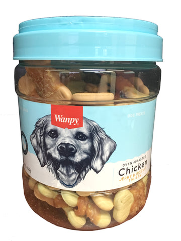 Wanpy Biscuits (Medium) with Chicken Jerky - 454gm Jar