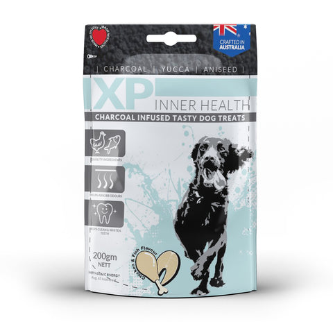 XP Inner Health Charcoal Infused Dog Treats Chicken & Fish - 200gm